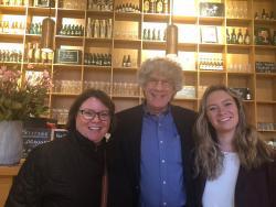 Furman's Nancy Georgiev & Caitlynne Goodlett meeting with Howest student Aaron Geli & Furman student Matt Martin at Howest Kortrijk