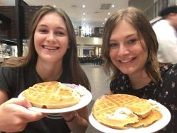 Where it all startedHowest Tourism students, Silke Vanloofsvelt and Lisa HaentjensAt Furman during the fall 2018 semester, enjoying some waffles
